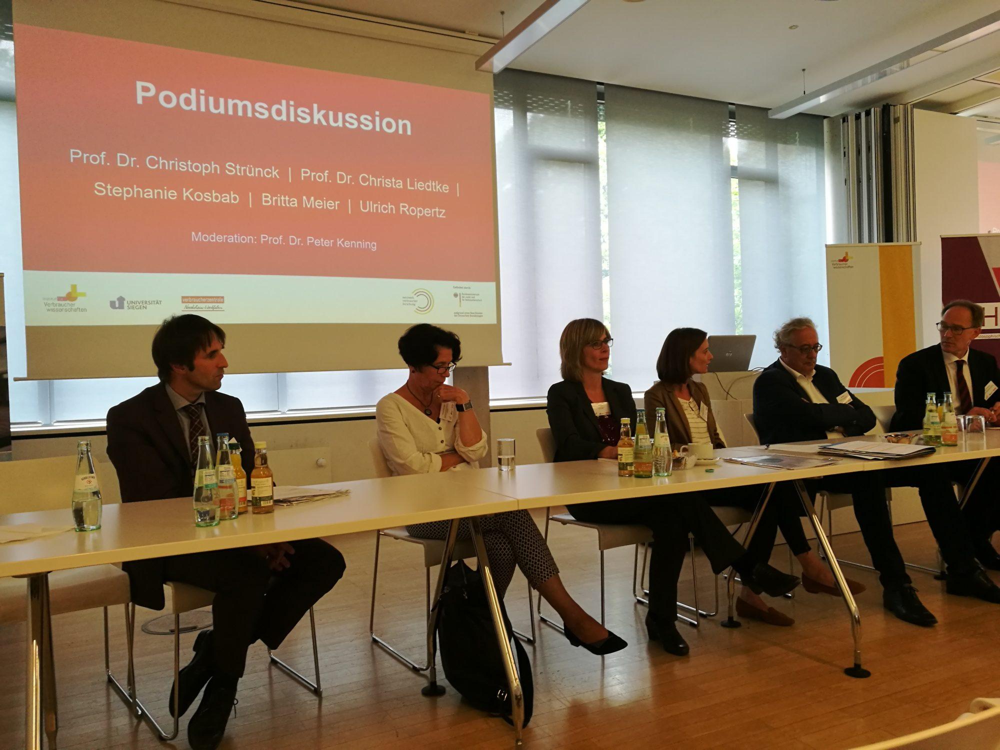 Institut für Verbraucherwissenschaften_Verbraucherforschungsforum Energiearmut Podiumsdiskussion